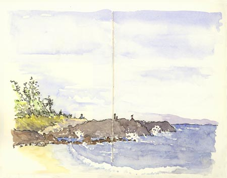 sketch_fleming beach