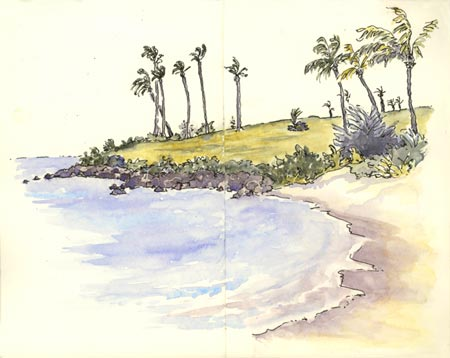 sketch_Kapalua_bay_maui