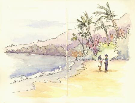 sketch_wedding_fleming_beach
