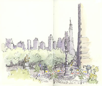 sketch_ny_central_park_columbus_circle