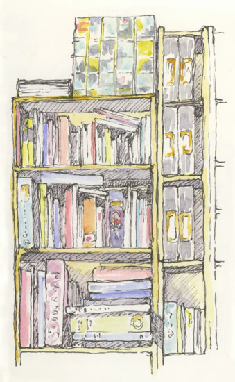 The Bookcase Sketching And Sketchbooks