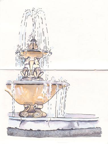 sketch_fountain_berkeley_arlington_marin